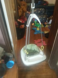 white, gray and green hanging jumperoo Hamilton, L8M 3A4