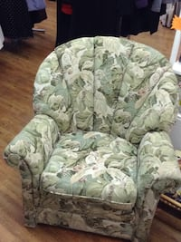 white and green floral sofa chair New Westminster, V3L 3X5