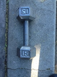 15lb hex cast iron dumbbell weight Culver City, 90230
