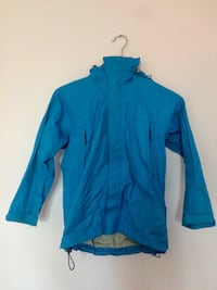 Blue zip-up jacket