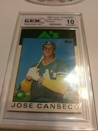 Jose Canseco trading card San Angelo, 76901
