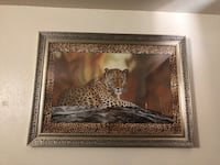 Brown wooden framed painting of leopard each set 100$ Visalia, 93277