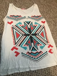white, red, and black tribal print tank top Junction City, 66441