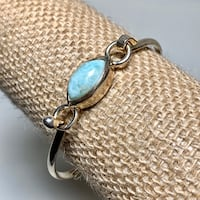 Vintage Sterling Silver Larimar Hook Bangle Bracelet Ashburn, 20147