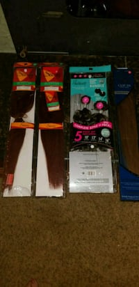 two black and red hair extensions Yukon, 73099