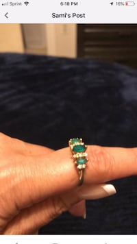 Women's emerald and diamond ring, size 7. Burke, 22015