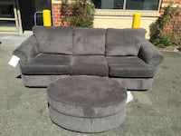 Gray fabric 3-4 seat sofa Temple Hills