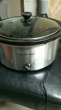 stainless steel Hamilton Beach Crock-Pot slow cooker with glass lid Chesapeake, 23320