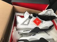 white-and-black Air Jordan 4 shoes Sicklerville, 08081