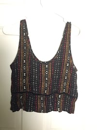 Forever 21 tribal pattern crop top 42 km