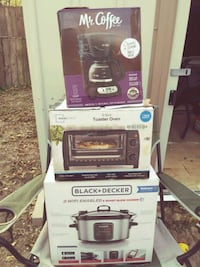 Mainstays Toaster Oven box, Black&Decker slow cooker box