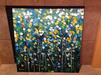 square pointillism trees painting