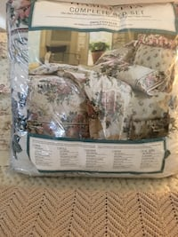 WAMSUTTA COMPLETE COMFORTER KING SIZE PLUS CURTAINS, SWAG VALANCE ETC