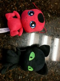 two black and red bear plush toys McAllen, 78504
