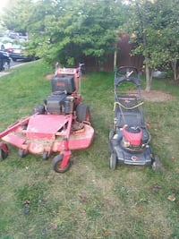 black and red lawnmower Sterling, 20166