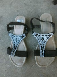 pair of black-and-white sandals Concord, 30206