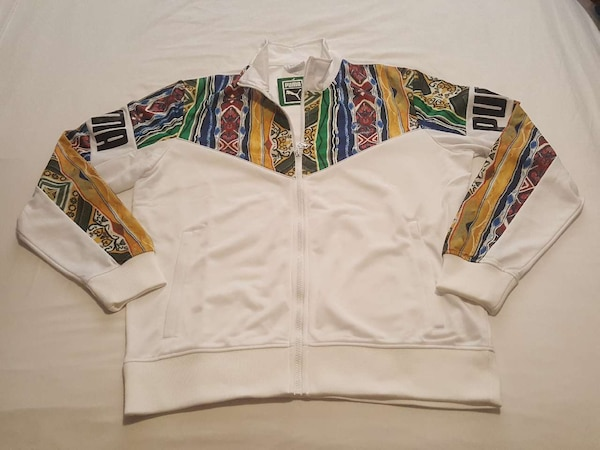 wholesale dealer 82276 7f1af NEW PUMA COOGI MEN'S TRACK JACKET WHITE Sz S