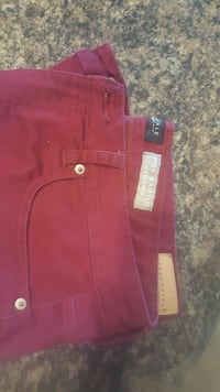 Aeropostale 14 High Wasted Jeggings Maroon Troy, 45373