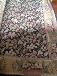 white, green, and red floral area rug Royalton, 17057