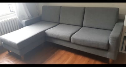FREE DELIVERY TODAY????????: GREY MODERN SECTIONAL COUCH - GREAT CONDITION