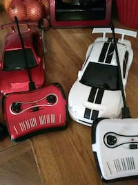 white and red RC toy cars with remote Avenue, 20609