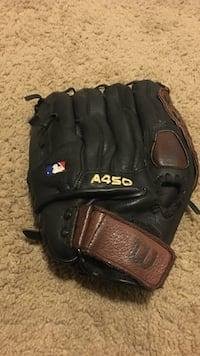 black and brown Wilson A450 leather baseball mitt Silver Spring, 20904
