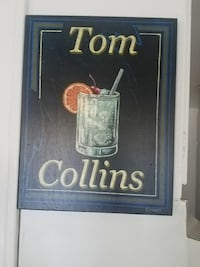 Tom Collins glass painting