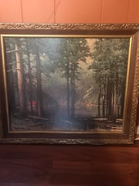 painting of trees with brown wooden frame Lanham, 20706