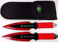 Biohazard zombie survival throwing knives