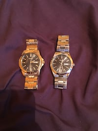 two round silver analog watches Toronto, M6S 2T7