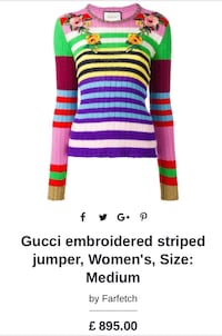 GUCCI Women's Sweater  S-M Richmond, V6Y 2E4
