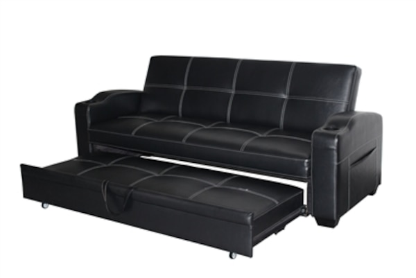 Urbana Collection Black Sleeper Sofa Bed With Cupholders No Credit Check 39 00
