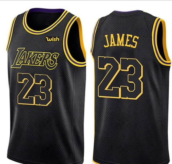 brand new 0f61d 8a1c4 black and yellow Los Angeles Lakers Kobe Bryant jersey