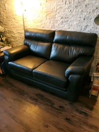 Black Leather Loveseat  Mississauga, L5A 3T2