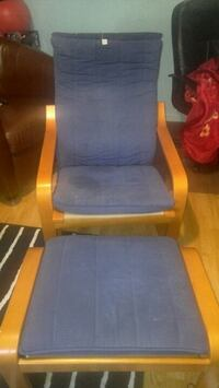 ikea chair and footstool blue  Laval, H7G 4T5
