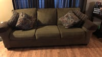 Gray fabric 3-seat sofa San Jose