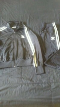 black and white Adidas zip-up jacket Winnipeg, R2K 0X3