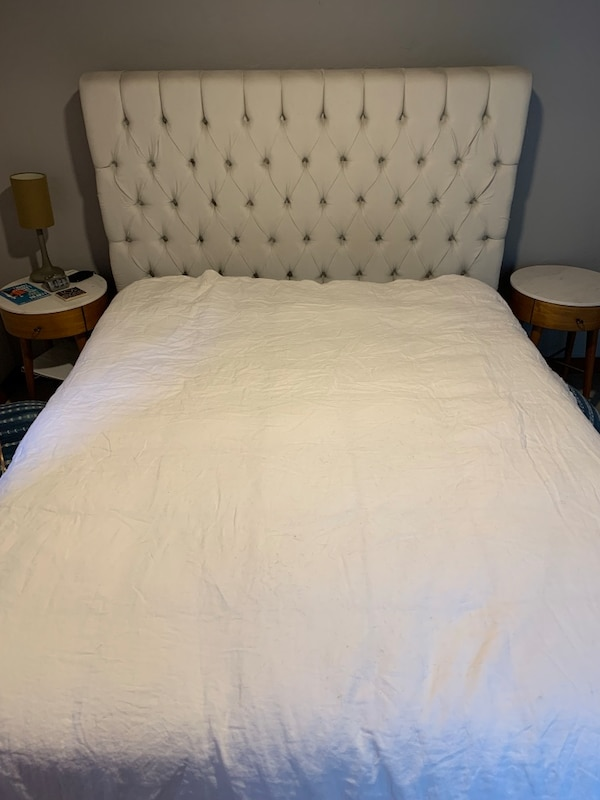 Queen Headboard and Bed Frame