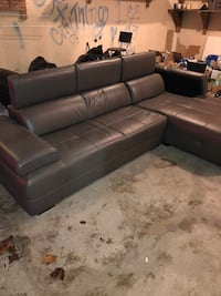 L shaped sectional couch.