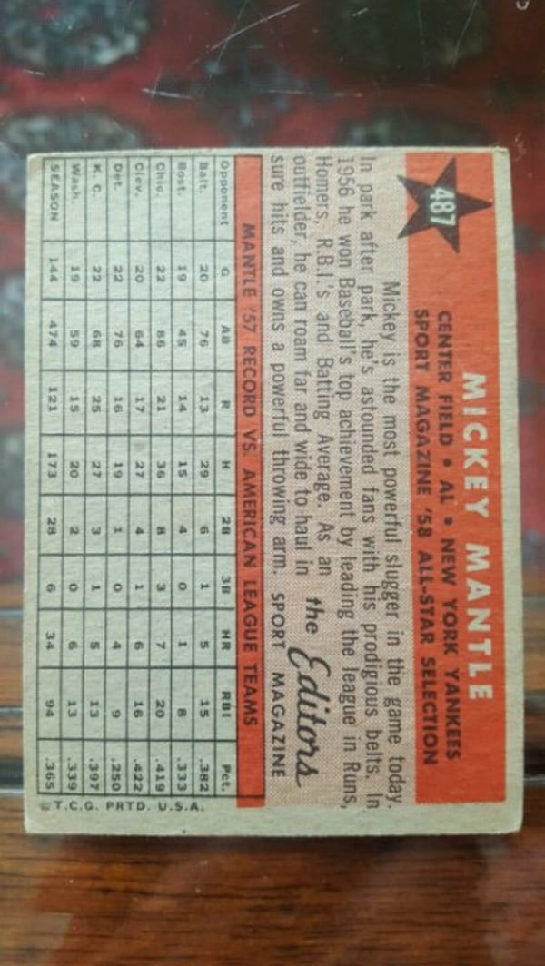 Mickey Mantle Baseball Cards - BEST OFFER GETS THEM. MUST GO. MOVING. 2c2a9826-206e-45fa-942f-245c9d7a9d6e