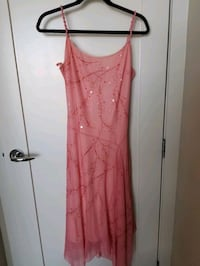 BCBG pink embroidered dress (prom ready)