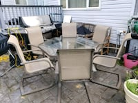 Hexagon glass table with 6 chairs  Calgary, T3K 6A3