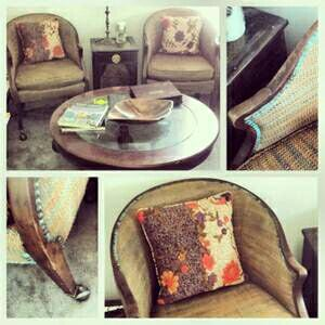 Rare Baker Furniture lounge chairs