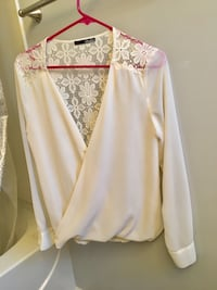 women's white long-sleeved blouse Charlotte, 28216