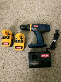Ryobi 18 v drill with 2 batteries and charger Silver Spring, 20906