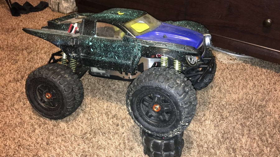 Green Monster Truck Toy : Letgo green and black monster truck toy in goshen oh