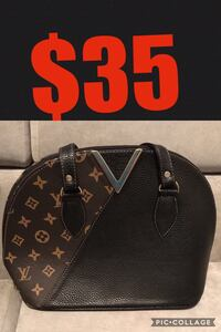 black Louis Vuitton handbag