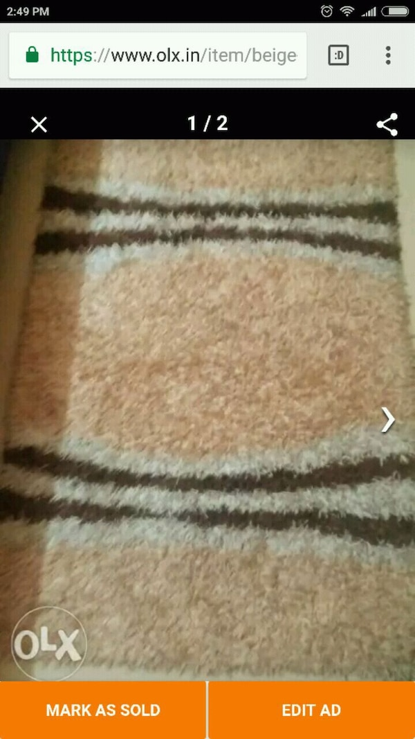 brown and white area rug