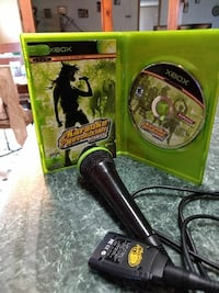 Xbox karaoke revolution party.  Mic included