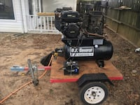black and red air compressor Semmes, 36575